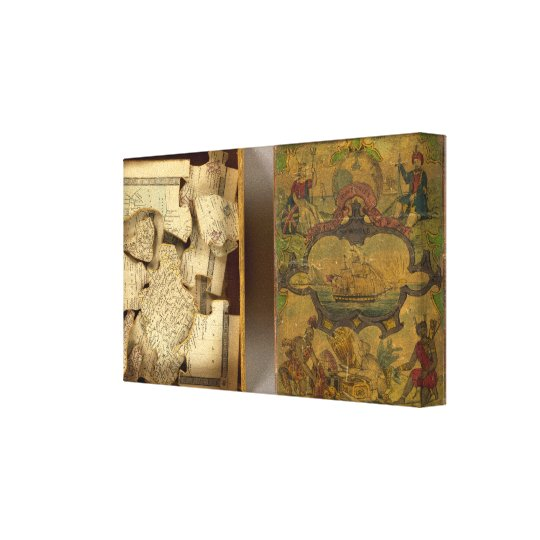 Humphries dissected world map canvas print
