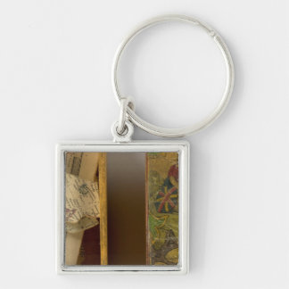 Humphries dissected world map keychain