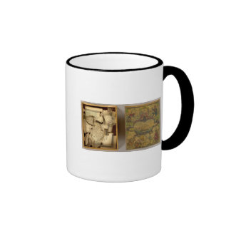 Humphries dissected world map ringer mug