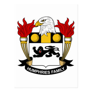 Humphries Family Crest Postcard
