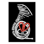 Humppa Love Red Dark Poster or Print