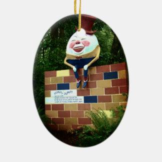 Humpty Dumpty Adorno Navideño Ovalado De Cerámica