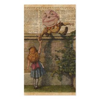 Humpty Dumpty & Alice Vintage Book Illustration Business Card