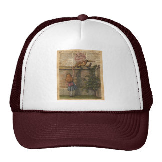 Humpty Dumpty & Alice Vintage Book Illustration Trucker Hat