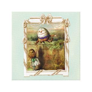 Humpty Dumpty and Alice Canvas Print