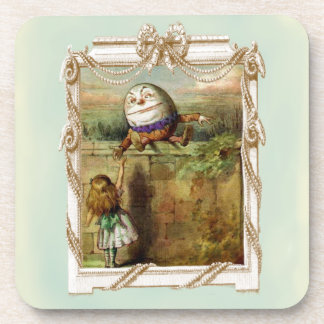 Humpty Dumpty and Alice Drink Coasters