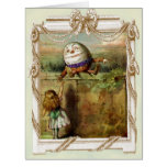 Humpty Dumpty and Alice Greeting Card