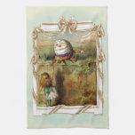 Humpty Dumpty and Alice Hand Towel