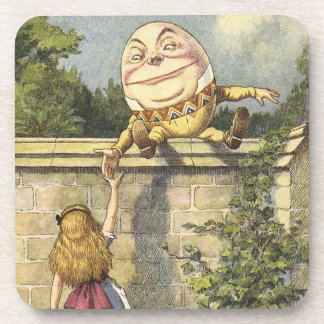 Humpty Dumpty and Alice in wonderland cork coaster