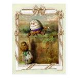 Humpty Dumpty and Alice Postcards