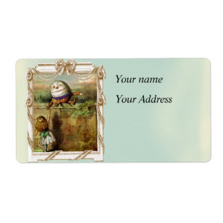 Humpty Dumpty and Alice Shipping Label