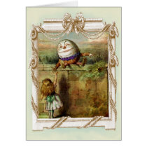 Humpty Dumpty and Alice Thank you Greeting Card