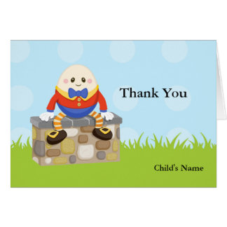 Humpty Dumpty Baby Shower Thank You Note Card
