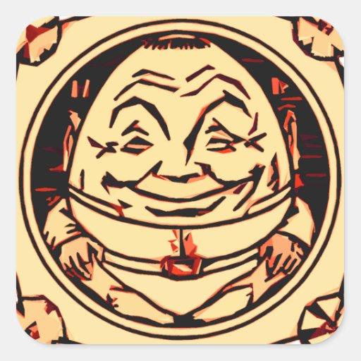 Humpty Dumpty Calcomanía Cuadradas Personalizadas