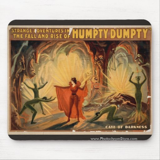 Humpty Dumpty, 'Cave of Darkness' Retro Theater Mousepads