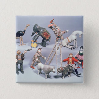 Humpty Dumpty Circus acrobats and menagerie Pinback Button