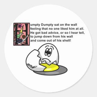 Humpty dumpty stickers zazzle humpty dumpty classic round sticker pronofoot35fo Image collections