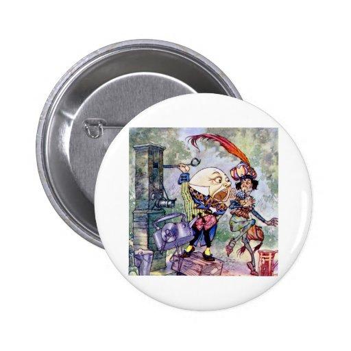 Humpty Dumpty consigue ruidosamente en el país de  Pin Redondo 5 Cm