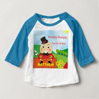 Humpty Dumpty Cute Personalized Baby T-Shirt