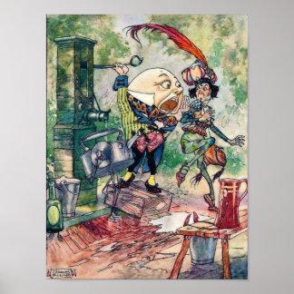 Humpty Dumpty en el país de las maravillas Póster