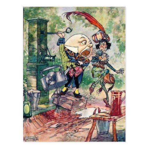 Humpty Dumpty en el país de las maravillas Tarjetas Postales