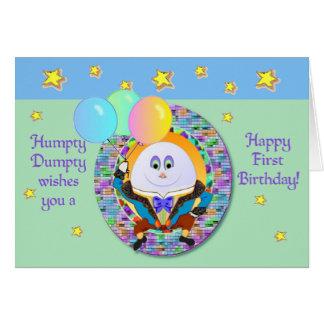 Humpty Dumpty First Birthday card template