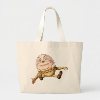 Humpty Dumpty from Alice in Wonderland Canvas Bags