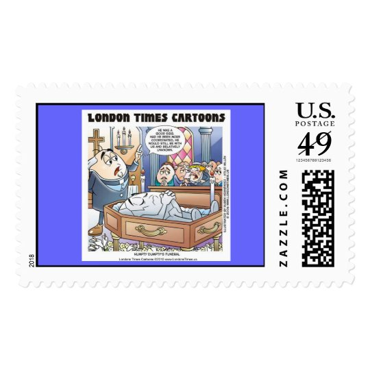 Humpty Dumpty Funeral Funny US Postage Stamps