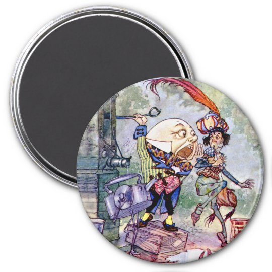 Humpty Dumpty Gets Loud in Wonderland Magnet
