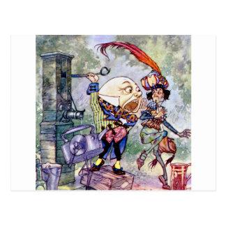Humpty Dumpty Gets Loud In Wonderland Postcard