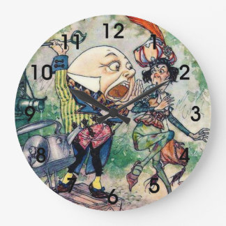 Humpty Dumpty in Wonderland Large Clock