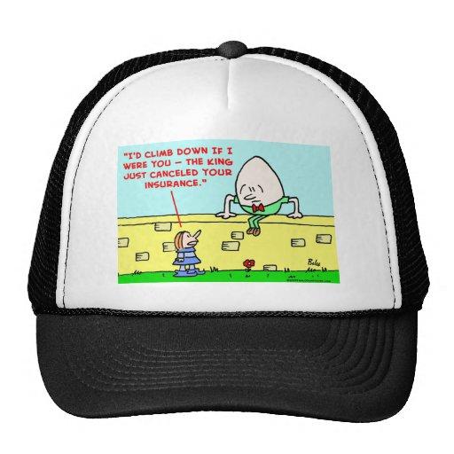 humpty dumpty insurance trucker hat