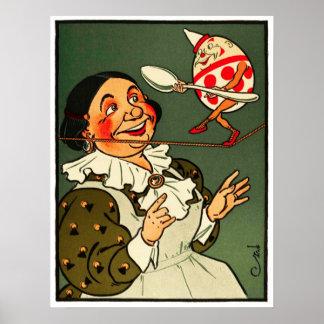 Humpty Dumpty La esposa del granjero mira encendi Posters