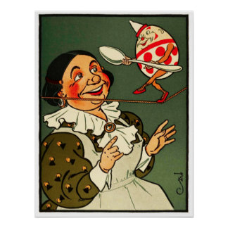 Humpty Dumpty: La esposa del granjero mira encendi Póster