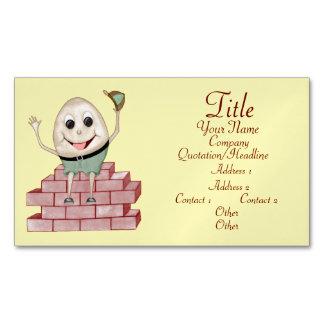 Humpty Dumpty Magnetic Business Card