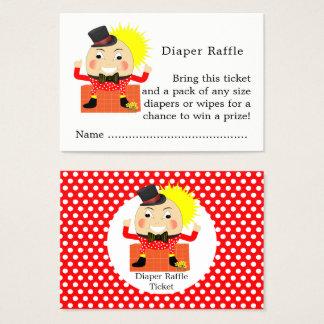 Humpty Dumpty Nursery Rhyme Baby Diaper Raffle Business Card