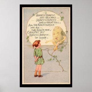 Humpty Dumpty Nursery Rhyme Poster
