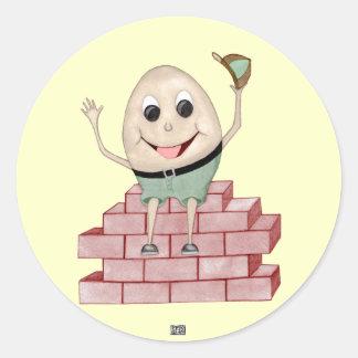 Humpty Dumpty Etiqueta Redonda