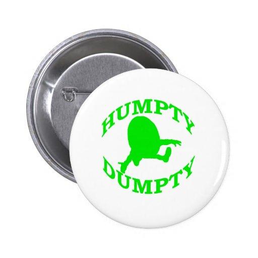 Humpty Dumpty Pin Redondo De 2 Pulgadas