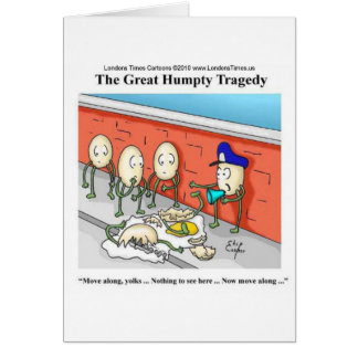 Humpty Dumpty Police Investigation Funny Gifts Card