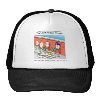 Humpty Dumpty Police Investigation Funny Gifts Trucker Hat