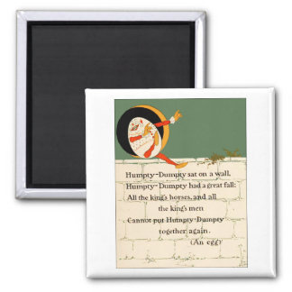 Humpty Dumpty Rhyme 2 Inch Square Magnet