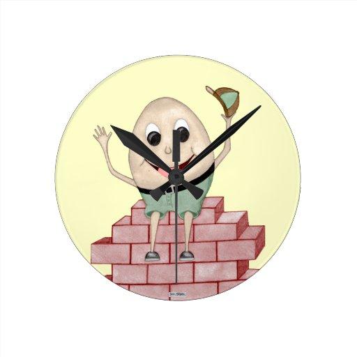 Humpty Dumpty Round Clock