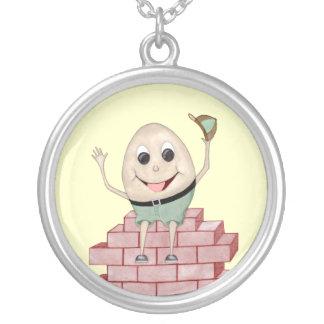 Humpty Dumpty Round Pendant Necklace