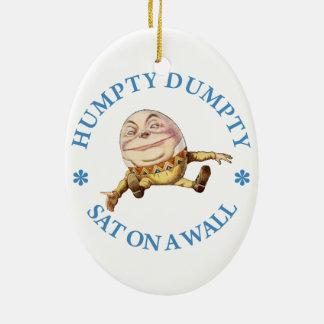 Humpty Dumpty Sat en una pared Adorno Ovalado De Cerámica