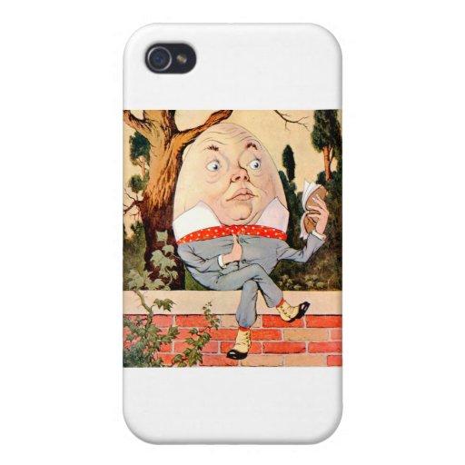 Humpty Dumpty Sat en una pared en el país de las m iPhone 4/4S Fundas