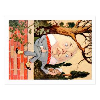 Humpty Dumpty Sat en una pared en el país de las m Tarjeta Postal