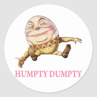 Humpty Dumpty Sat en una pared Pegatina