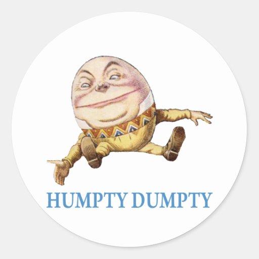 HUMPTY DUMPTY SAT EN UNA PARED - POESÍA INFANTIL ETIQUETAS