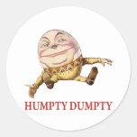 HUMPTY DUMPTY SAT EN UNA PARED - POESÍA INFANTIL ETIQUETAS REDONDAS